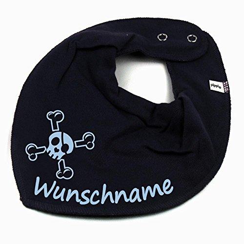 Baby Piraten Kleidung - HALSTUCH Totenkopf Pirat mit Namen oder