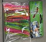 Plástico palillos de cóctel–500piezas de fuentes del partido de desechables fruta tenedores para postre, cuenco para aperitivos, y bebidas en 4colores surtidos