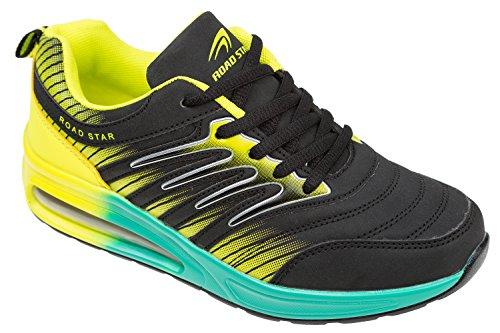 donna Nero türkis gelb schwarz gibra Sneaker v0qwUU