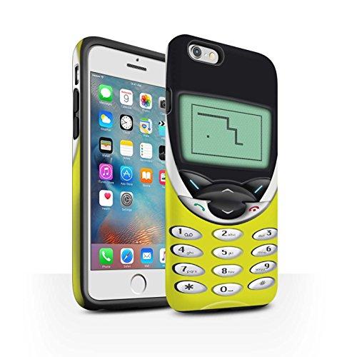 STUFF4 Matte Harten Stoßfest Hülle / Case für Apple iPhone 8 / Schwarzes Nokia 8210 Muster / Vintage Handys Kollektion Gelbes Nokia 8210
