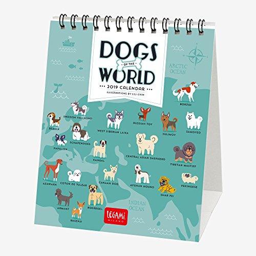 Legami Calendario Da Tavolo 2019, Dimensioni 12 X 14,5 Cm-Dogs Of The World