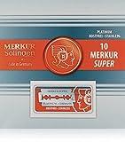 Shaving Factory Merkur Traditionell Platin Sicherheits-lamette da barba, 1 pacchetto (1 x 1 PZ)