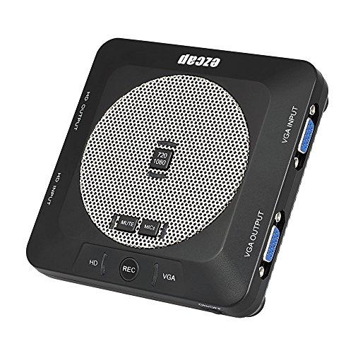 Docooler ezcap289 Game Audio Capture vidéo Boîtier d'Acquisition Vidéo HD 1080p HD avec Microphone Intégré pour Caméra, TV Box, DVD, PS3, PS4
