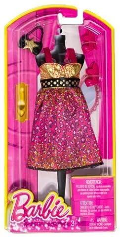 Shoulder Strap Sweetheart Top Leopard-Print Waistband Dress + Shoes & Bag: Barbie Fashion Pack
