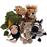 The Puppet Company - Finger Puppets - African Animals Set of 6