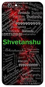 Shvetanshu (Moon) Name & Sign Printed All over customize & Personalized!! Protective back cover for your Smart Phone : Xiaomi Redmi Note 3