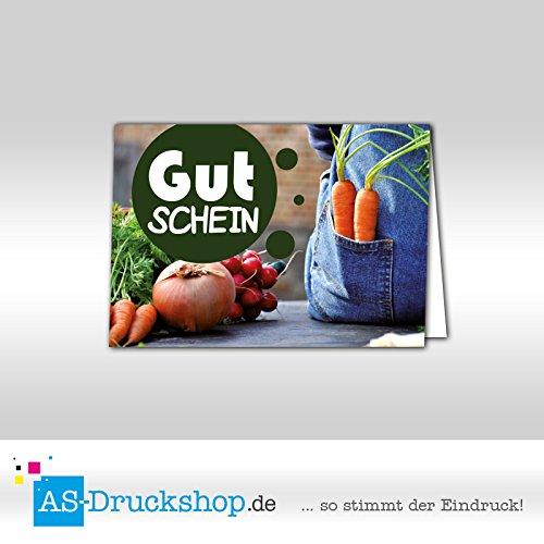Gutschein Hofladen / Landwirtschaft - 'Latzhose' - Format: DIN A6, 250 Stück