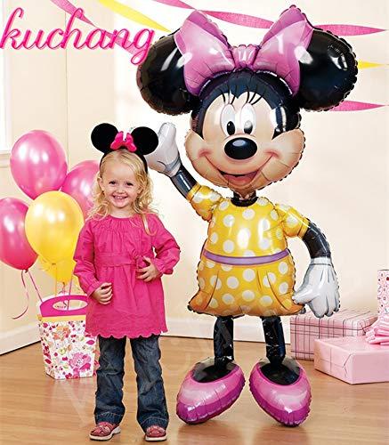 Uniqus - Globos de Helio inflables para Fiesta de cumpleaños (1 Unidad, 116 x 64 cm), diseño de Mickey Minnie