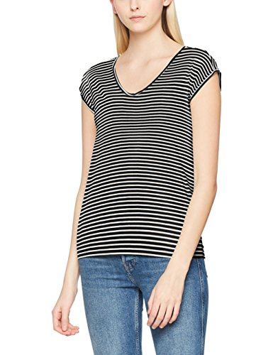 PIECES Damen T-Shirt Pcbillo New Tee NOOS Mehrfarbig (Black Stripes: Bright White)
