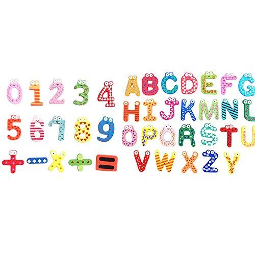 OUNONA 41pcs Kinder's Kühlschrankmagnete Alphabet Und Nummer,Lustige Magnete Kühlschrank-magnete Buchstaben