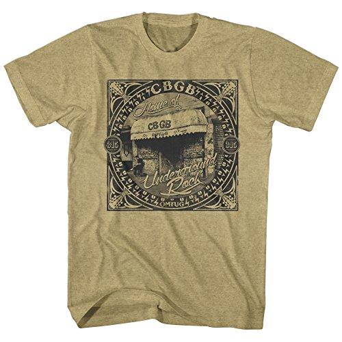 CBGB -  T-shirt - Uomo Khaki Heather Large