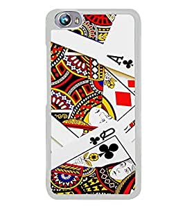 PrintVisa Designer Back Case Cover for Micromax Canvas Fire 4 A107 (Playing Cards Queen Colour )