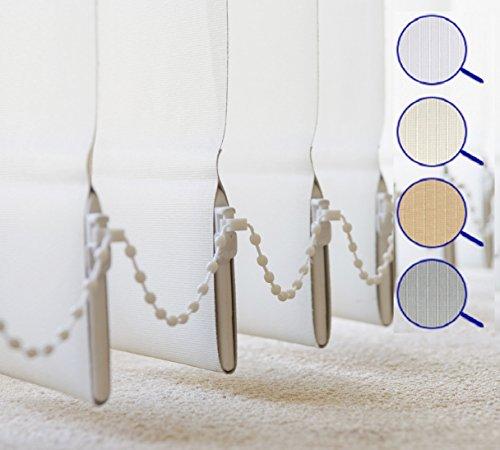 Lamellenvorhang in 4 Farben , Vertikal , Lamellen 127 mm , Schiebevorhang , Jalousie , Vertikaljalousie , NEU (100 x 180 cm (BxH), Grau) (Stranggepresste Aluminium-lamellen)