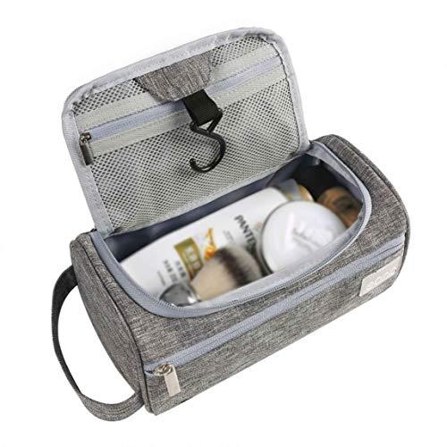 Eono by Amazon - borsa appendibile da viaggio, weekender, palestra, accessori da toilette, unisex, da uomo e donna, colore grigio
