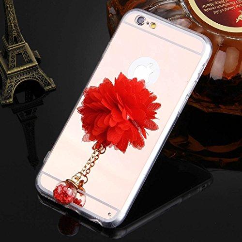Phone case & Hülle Für iPhone 6 / 6s, Blumenkettenanhänger TPU Schutzhülle ( Color : Gold ) Rose Gold