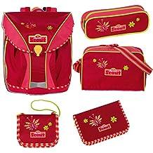 Scout Nano Ensemble cartable et accessoires d'école 5 pièces dont sac de sport Rouge/rose 562 cherry/pink
