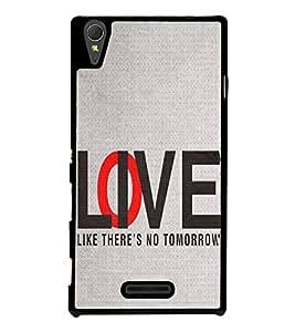 FUSON Love Live No Tomorrow Designer Back Case Cover for Sony Xperia T3