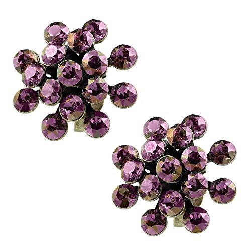 Konplott Ohrringe Magic Fireball Mini brass lila shadow