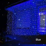 Schlafzimmer Vorhang Lichterkette 3x3m,USB Stecker,Dimmbar,8 Modi IP65 Lichtervorhang mit Fernbedienung,LED Lichterkette für Zimmer Drinnen Draußen Hochzeit Party Fenster Weihnachten Dekoration -Blau