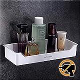 Cestino della doccia piatto doccia senza fori per il bagno, cuscinetti adesivi Nastro adesivo resistente, plastica ABS