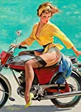 Vintage Pin Ups GIL ELVGREN A Fortunate Mishap * 250gsm Gloss ART CARD A3 Reproduction Poster