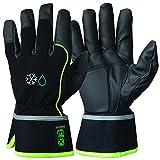GRANBERG 107.8112-11 - 6 pares de guantes de montaje con forro de invierno, impermeables, con material de protección de micropiel, material de amortiguación de vibración para la palma, tamaño 11, XXL (paquete de 6)