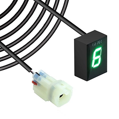 Idea resistente al agua 6Speed indicador digital LED rojo LED Display Indicación...