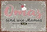 DeCoArt... 1 Postkarte Omas sind wie Mamas nur mit Puderzucker 15 x 10,5 cm bunt