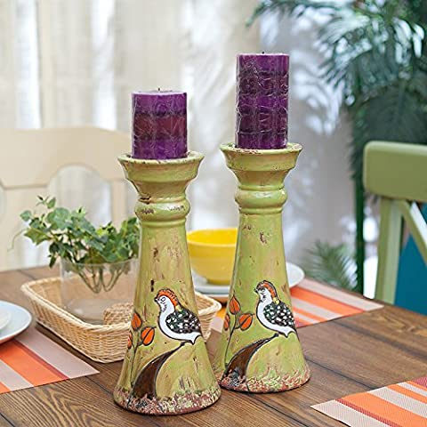 qwer Pueblo Americano para manejar el viejo pájaro candelabros de cerámica creativa plantilla continental las habitaciones están decoradas y amuebladas, ornamentos clic)