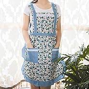 Apron Ms. Antifouling Lace Trim Pastoral Strap Lining Kitchen Chef Waist Apron