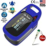 #1: Dr Trust (USA) Professional Series Finger Tip Pulse Oximeter With Audio Visual Alarm and Respiratory Rate(Blue)