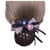 Elegant Flowers Hair Clip Barrette Stewardess Nurse Office Hair Clip Snood Net (1 piece), NO.02