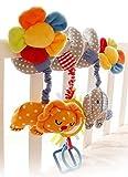 Happy cherry - Activité d'éveil - Boulier Spirale Jouets de poussette pour bébé éléphant - Bleu