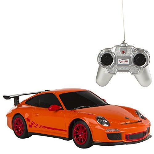 Rastar - Coche teledirigido 1:24, Porsche GT3 RS Naranja (ColorBaby 85039)