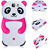 Panda Etui pour Samsung Galaxy A3 A310 2016 3D Panda Coque,MingKun TPU Silicone Etui Housse pour Samsung Galaxy A3 A310 2016 TPU Bumper Gel Doux Cover Ultra Mince Housse Poids Léger Etui Anti Rayure Anti Choc Coque Hull Couverture-Rose Rouge