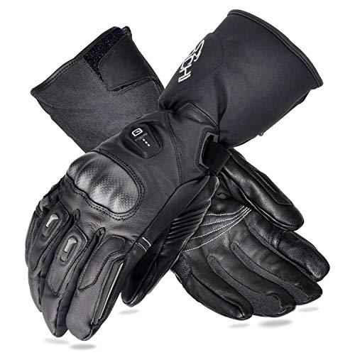 BARCHI HEAT 12V 7.4V Hard Knuckle beheizte Handschuhe, elektrischer Akku Auto Motorrad Aufladen beheizter Handschuhe für Schnee Skifahren Eislaufen Reiten Motorrad