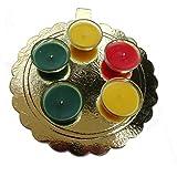 Designer Handmade 5 Pcs Of Beautiful Diyas Thali / Decorative Diwali Diya /Diya For Decoration / Diwali Gifts And Decoration(Set Of 5 Pcs )