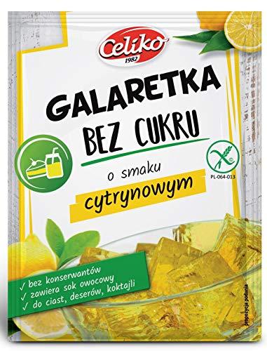 Götterspeise ohne Zucker Zitrone Geschmack 10 x14 G Glutenfrei ...