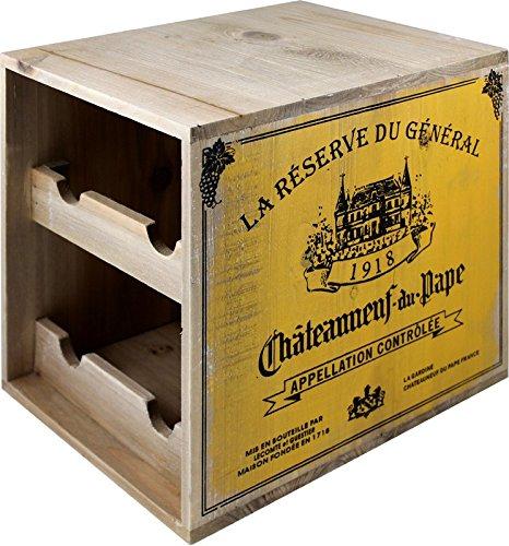 Cantinetta in legno mensola espositore per 6bottiglie shabby Chicdistressed antico