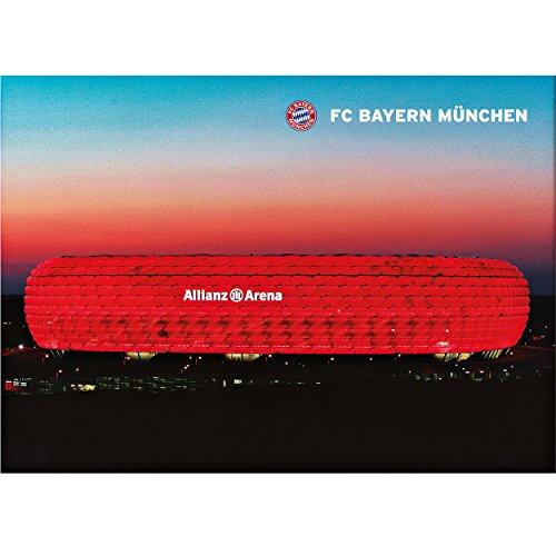 Poster Allianz Arena FC Bayern München FCB + gratis Aufkleber, Munich