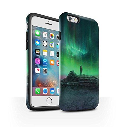 Offiziell Chris Cold Hülle / Glanz Harten Stoßfest Case für Apple iPhone 6S+/Plus / Pack 12pcs Muster / Fremden Welt Kosmos Kollektion Polarlicht
