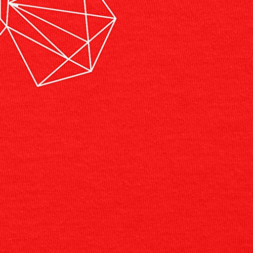 NERDO -  Felpa con cappuccio  - Collo a U  - Maniche lunghe  - Donna Rot