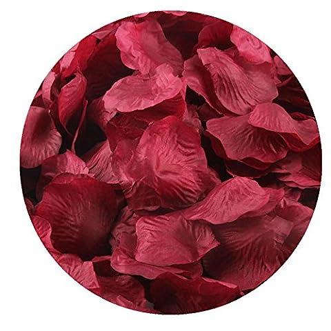 FEITONG 1000pcs Silk Rose Petals Fleur artificielle Confetti Wedding Favor Bridal Shower Aisle Decor (F)