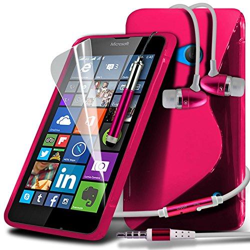 i-Tronixs ( Hot Pink ) Motorola Moto E 2015 2nd Generation Hülle Abdeckung Cover Case schutzhülle Tasche Premium Quality S Line Wave Gel Case Skin Cover With LCD Screen Protector Guard, Polishing Cloth & Mini Retractable Stylus Pen -