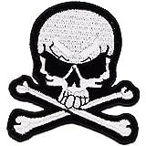 ecusson tete de mort thermocollant 7x6,5 cm patche badge biker