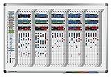 Legamaster 7-413500 Premium Wochenplaner, UV-gehärtetes Whiteboard, 5 Wochenübersicht mit 40 Zeilen,90 x60 cm