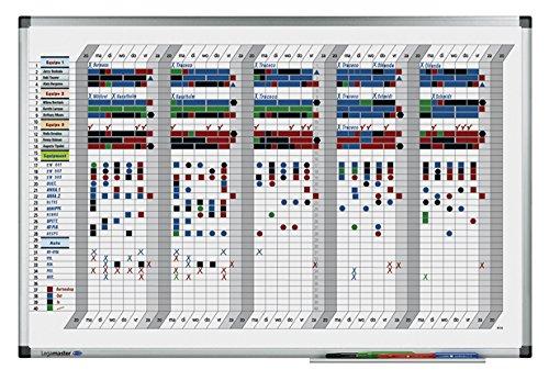 Preisvergleich Produktbild Legamaster 7-413500 Magnetischer Wochenplaner Premium mit 35 Tage Einteilung, 90 x 60 cm