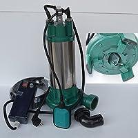 Fäkalienpumpe Schmutzwasserpumpe mit Schneidwerk IBO 2200 Leistung 2200Watt Spannung: 230V/50Hz Fördermenge: 24000l/h=400 l/min. Schwimmerschalter + Überspannungsschutz.
