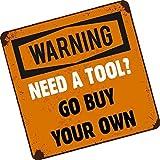 Ein Werkzeug? Gehen kaufen muss das eigene Funny Tool Box Toolbox Brust Auto-Aufkleber Vinyl Aufkleber Vinyl 100x 100mm ca.