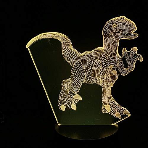 CYJQT 3D Nachtlichter Kinder-Emotionslichter Tyrannosaurus Rex Dinosaurier Schlafzimmer Filmfans Dekoration Jurassic Park Visualisierung Atmosphäre Führende Nachtlichter